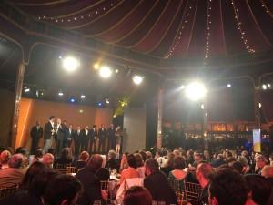 Uno de los momentos de la gala de los III premios Feroz. // Imangen: R. Viejo