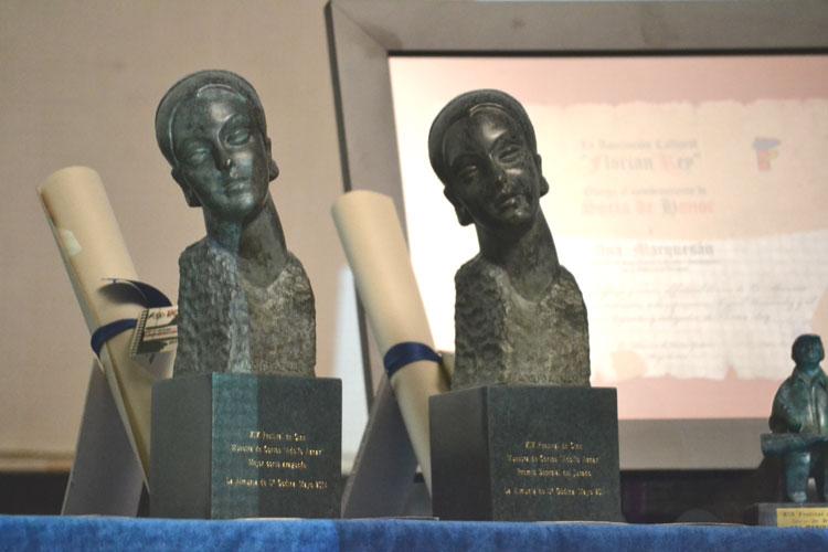 Reproducción de la 'Cabeza de mujer' de Adolfo Aznar, estatuilla de los principales premios de los concursos de guiones y cortometrajes.